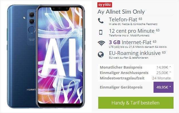 Huawei Mate 20 lite + Ay Yildiz Ay Allnet bei FLYmobile