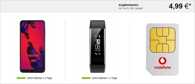 Huawei P20 Pro + Huawei Band 2 Pro + Vodafone Smart L Plus bei LogiTel