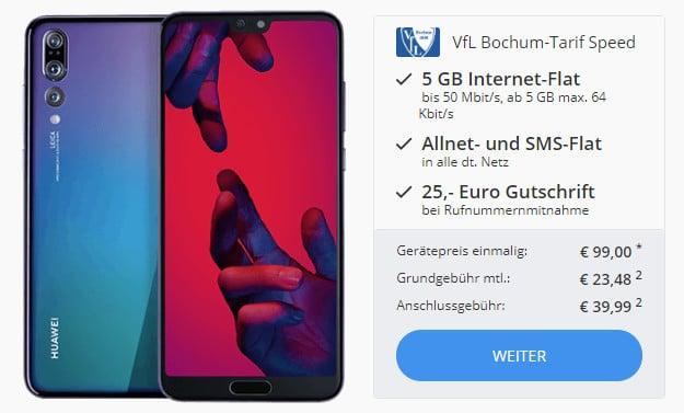 Huawei P20 Pro + otelo VfL-Bochum-Tarif bei Sparhandy