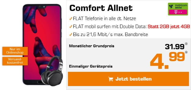 Huawei P20 Pro + mobilcom-debitel Telekom Comfort Allnet