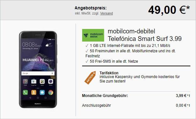 Huawei P8 Lite 2018 + Telefónica Smart Surf mobilcom-debitel
