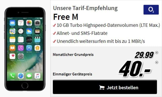 iphone 7 + o2 free m