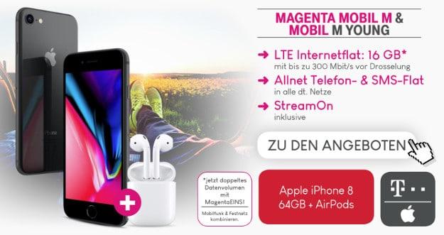 iPhone 8 / 8 Plus + Telekom Magenta Mobil M / M Young