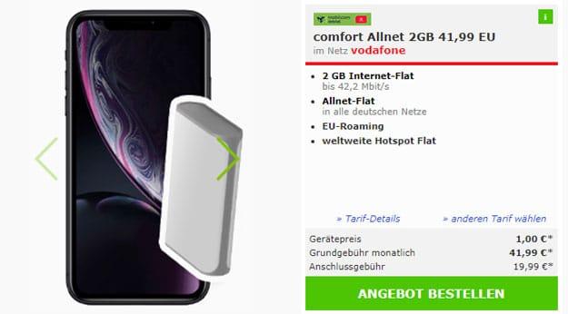 iPhone Xr + Vodafone Comfort Allnet (md)