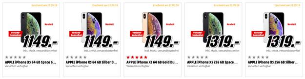 Apple iPhone Xs, iPhone Xs Max, iPhone Xr kaufen, vorbestellen ohne Vertrag