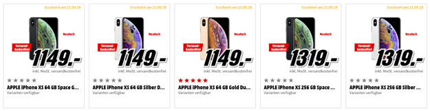 Iphone Xs Iphone Xs Max Iphone Xr Kaufen Ohne Vertrag