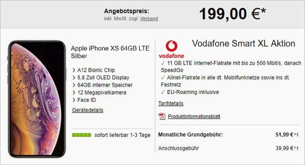 iPhone Xs 64GB + Vodafone Smart XL