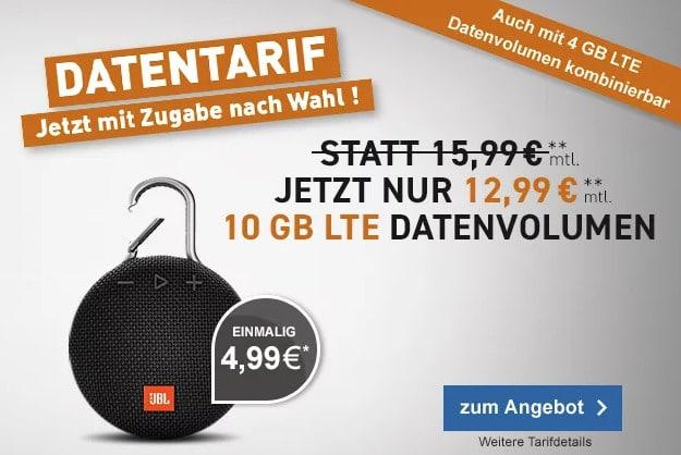 JBL Clip 3 + 10 GB LTE Datentarif