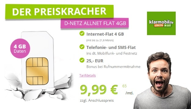 klarmobil Allnet-Flat 4000 bei GetHandy