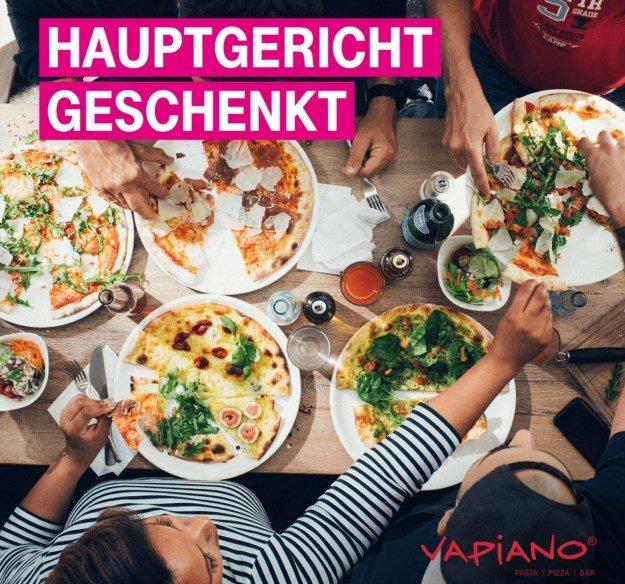 Telekom Mega-Deal KW38: Ein gratis Hauptgericht bei Vapiano