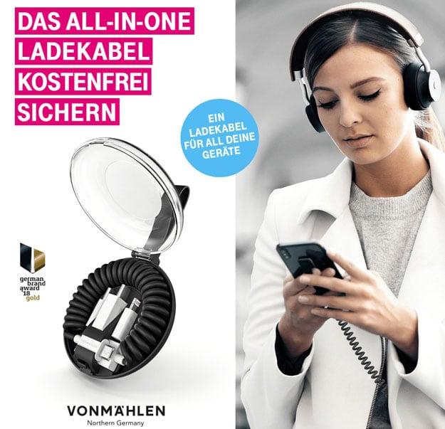 Telekom Mega-Deal mit 5-in-1-Ladekabel von Vonmählen