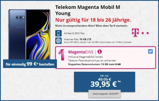 Note 9 + Telekom Magenta Mobil