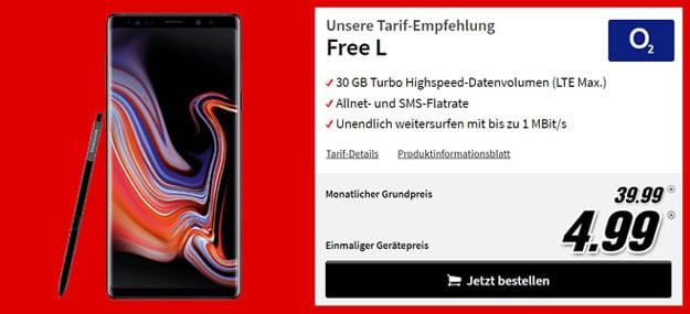 Samsung Galaxy Note 9 + o2 Free L