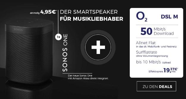 o2 DSL M + Sonos One WLAN-Lautsprecher bei Handyflash