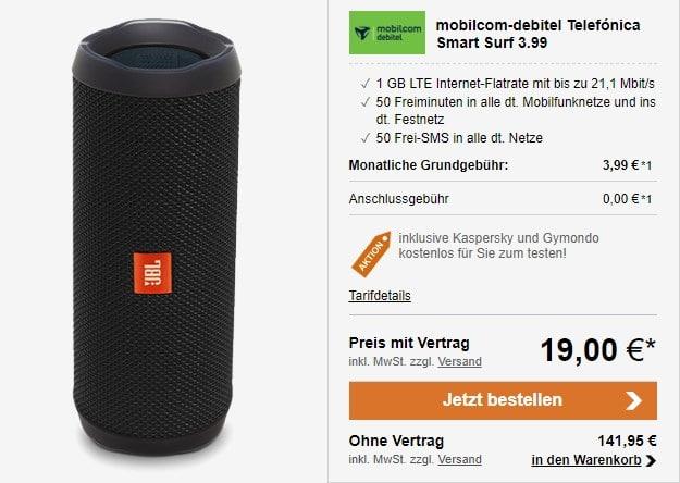 Telefónica Smart Surf (mobilcom-debitel) + JBL Flip 4 bei LogiTel
