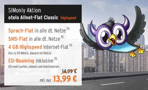 otelo Allnet-Flat Classic Speed bei FLYmobile
