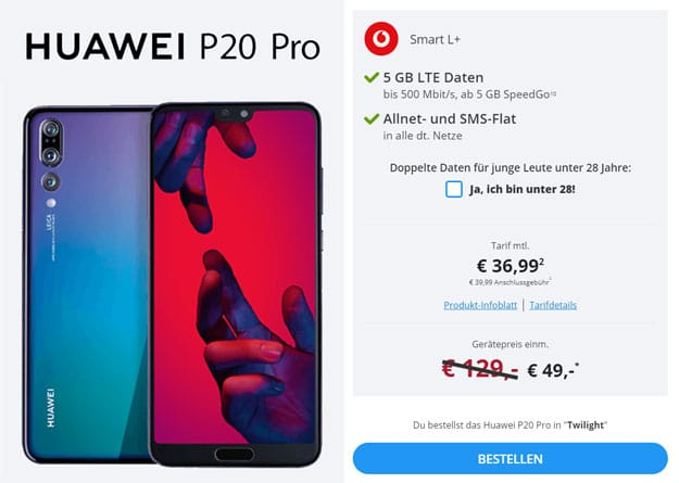 Huawei P20 (Pro) + Vodafone Smart L Plus (Young)