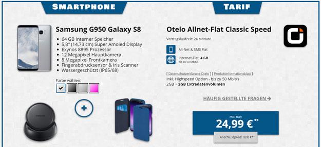 Samsung Galaxy S8 + otelo Allnet-Flat Classic