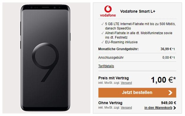 Galaxy S9 (Plus) + Vodafone Smart L Plus (Young)