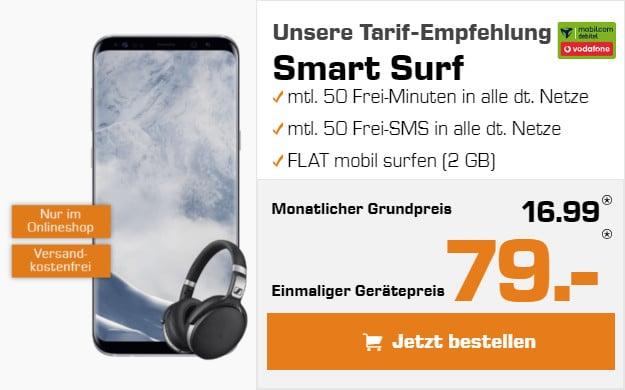 Samsung Galaxy S8 + Vodafone Smart Surf (md)