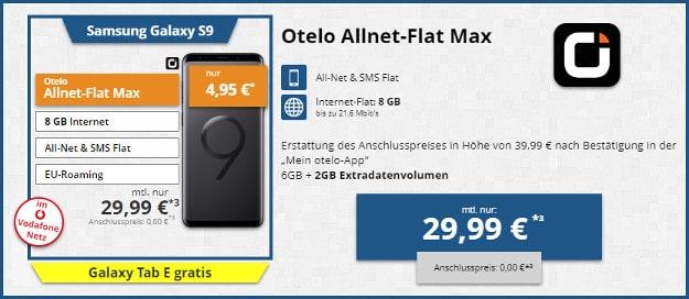 Samsung Galaxy S9 + otelo Allnet-Flat Max
