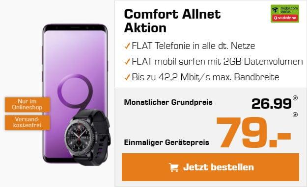 S9 plus + Vodafone Comfort Allnet + Gear S3