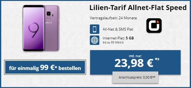 Samsung Galaxy S9 + otelo Lilien Tarif LTE