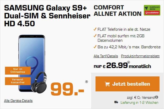 Samsung Galaxy S9 plus + Vodafone Comfort Allnet md