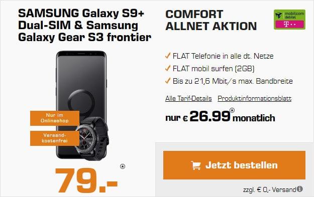 Samsung Galaxy S9 + Gear S3 + Telekom Comfort Allnet md