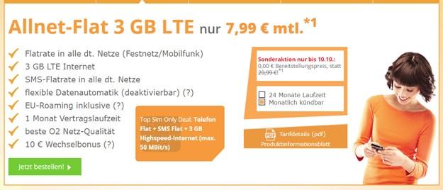 SimDiscount LTE Tarife ab 6,99 € Grundgebühr