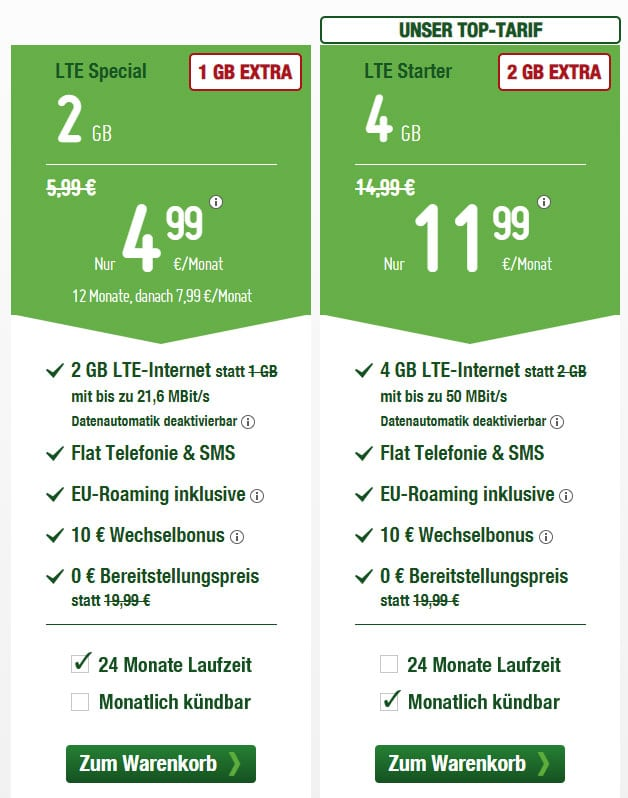 smartmobil LTE Allnet-Flat Tarife