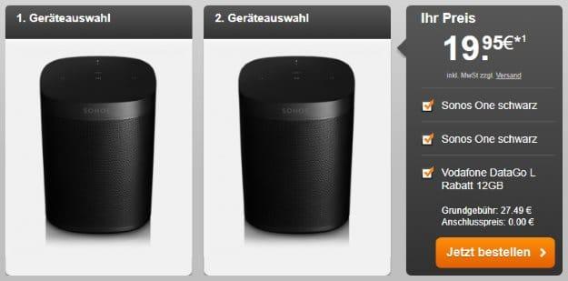 Vodafone DataGo L + 2x Sonos One bei Handyflash