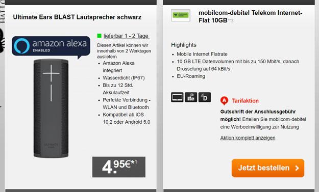 md Internet Flat 10.000 mit 10 GB LTE (Telekom-Netz)