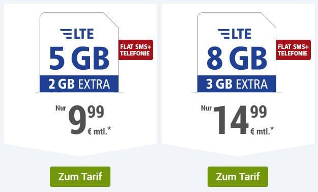 1&1 GMX Tarife 5 GB LTE Allnet-Flat