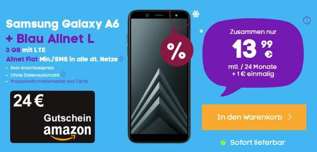 Samsung Galaxy A6 + Blau Allnet L im Handyhase-Bonsudeal