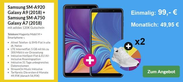 Galaxy A9 + Galaxy A7 + Telekom Magenta Mobil M