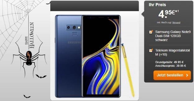 Samsung Galaxy Note 9 + Telekom Magenta Mobil M bei Handyflash