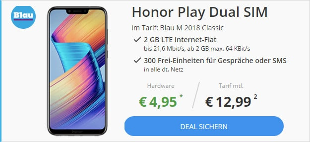 Honor Play + Blau M