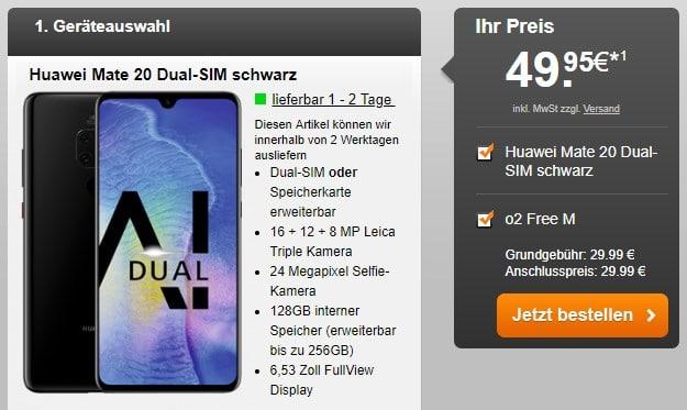 Huawei Mate 20 + o2 Free M bei Handyflash