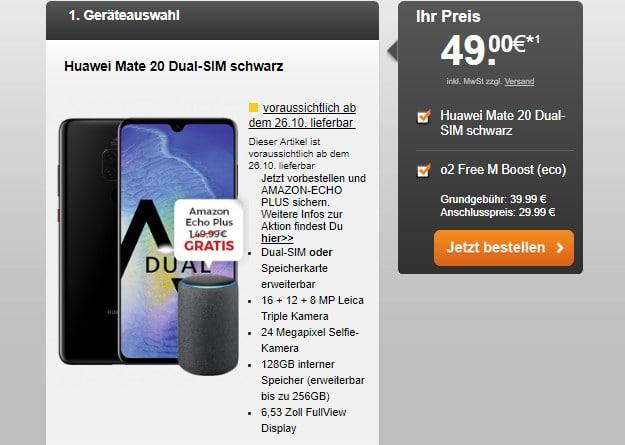 Huawei Mate 20 + o2 Free M Boost