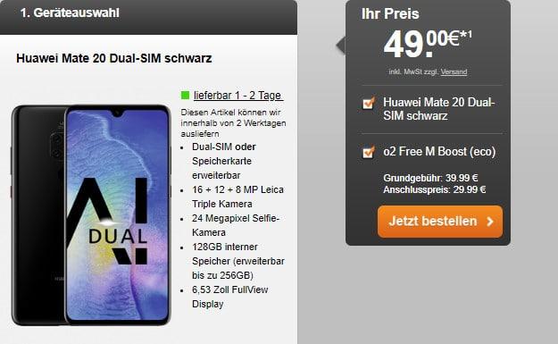 Huawei Mate 20 pro + o2 Free M 20 GB LTE