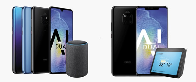 Huawei Mate 20 Pro und Mate 20 mit gratis Amazon Echo Plus oder Show