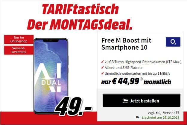 Huawei Mate 20 Pro + o2 Free M bei MediaMarkt