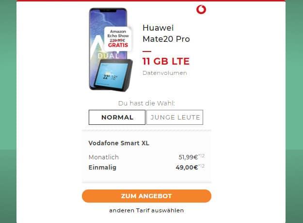 Huawei Mate 20 Pro + Vodafone Smart XL / XL Young