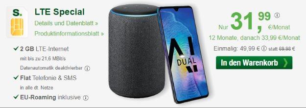Huawei Mate 20 + Amazon Echo Plus (2. Generation) + smartmobil LTE Special bei smartmobil