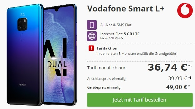 Huawei Mate 20 + Vodafone Smart L Plus bei talkthisway