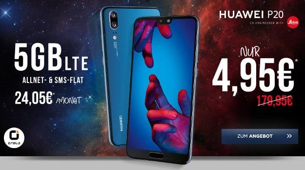 Huawei P20 + otelo Fan-Tarif Classic Speed bei Handyflash