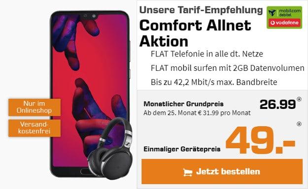 Huawei P20 Pro + Sennheiser-Headset + Vodafone Comfort Allnet (md)