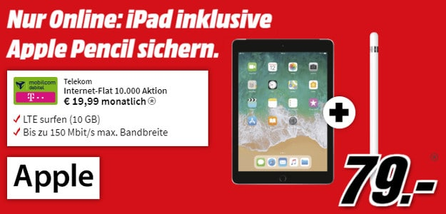 ipad wifi lte + 10 gb lte telekom