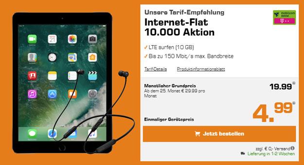 iPad 2017 Cellular + mobilcom-debitel Internet-Flat im Telekom-Netz (10 GB LTE)